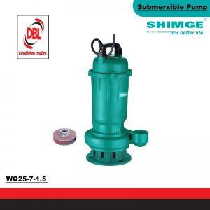 SUBMERSIBLE & SEWAGE PUMP – WQ25-7-1.5