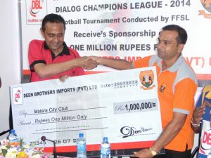 Receives sponsorship of One Million Rupees from DEEN BROTHERS IMPORTS (PVT) LTD.