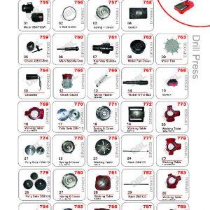 Drill press Spare Parts