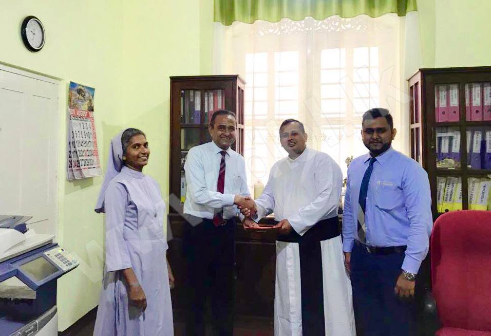 Deen Brothers Imports (Pvt) Ltd Donated Cash to the Annual Feast of the National Shrine of our Lady of Matara